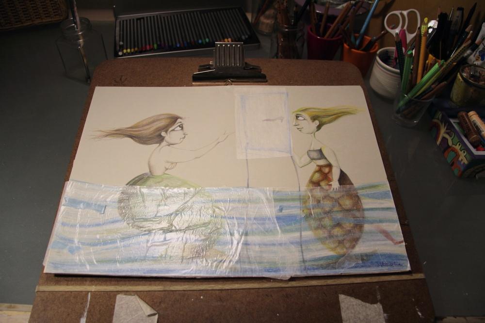 valentina_deluca_illustrator_painting_mermaids_fotor